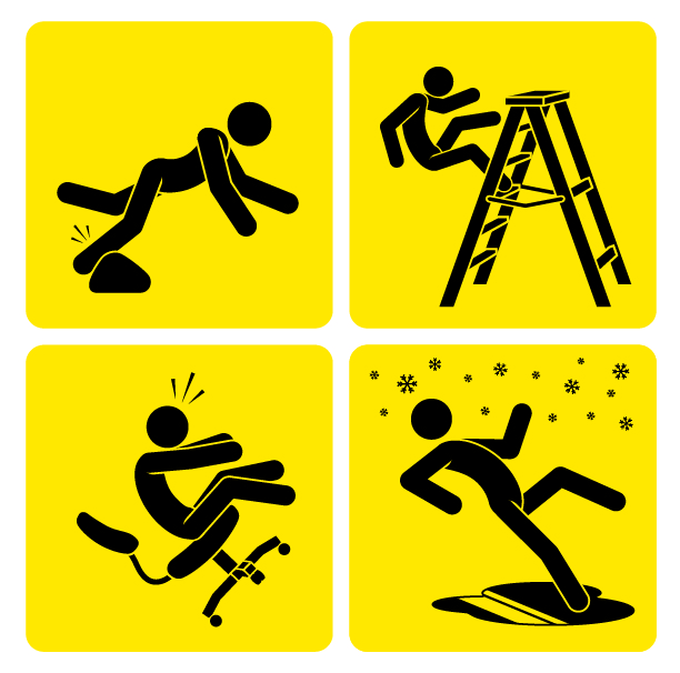 Graphical explanation of slips and falls as mentioned by Dr.G.Balamurali, a neurosurgeon in India